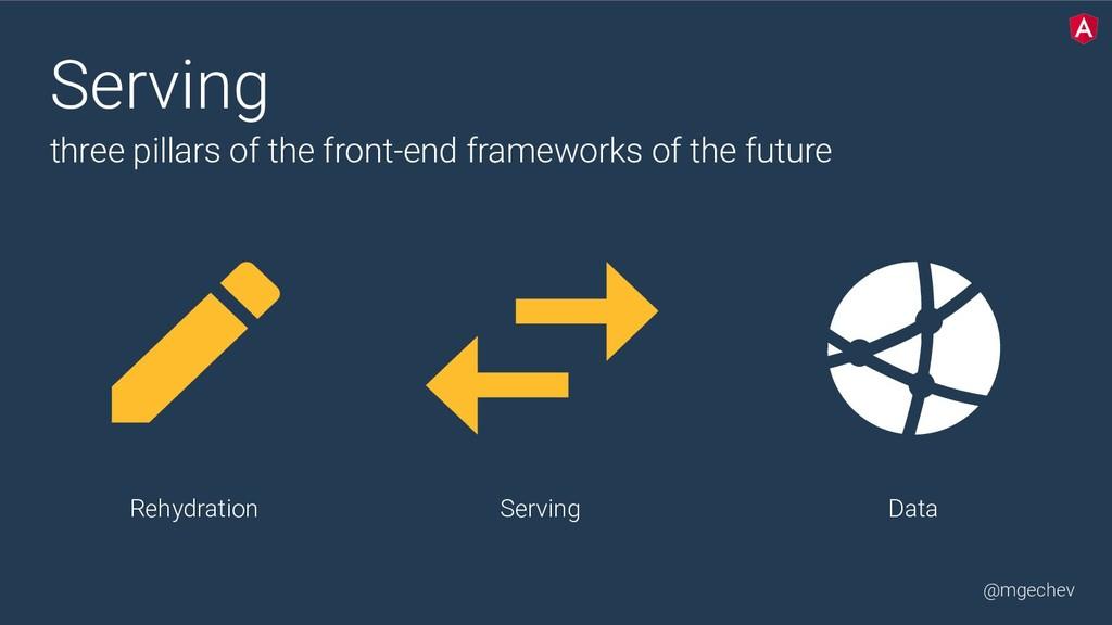 @mgechev Serving Data Serving three pillars of...
