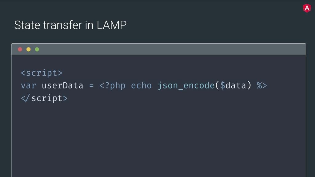 @yourtwitter State transfer in LAMP <script> va...