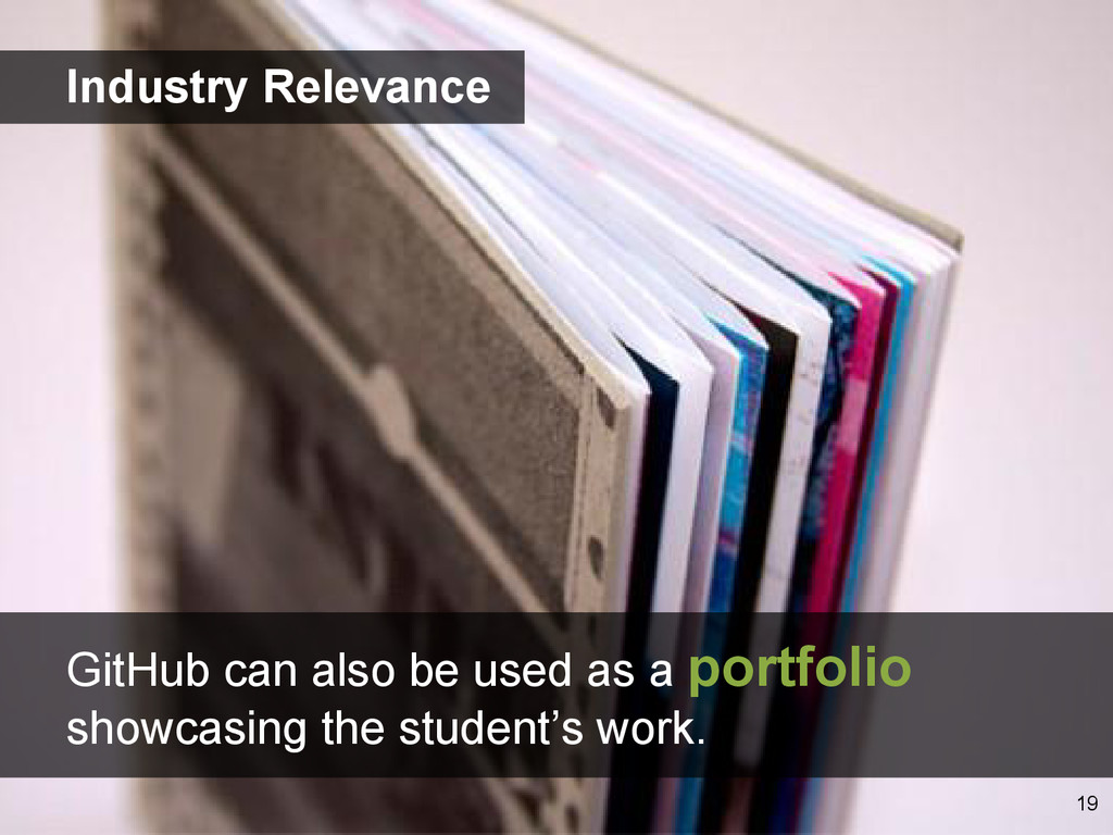GitHub can also be used as a portfolio showcasi...