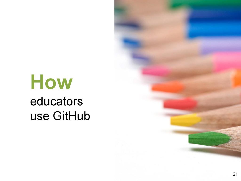How educators use GitHub 21