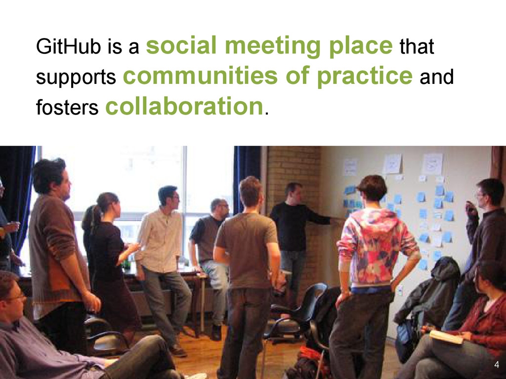GitHub is a social meeting place that supports ...