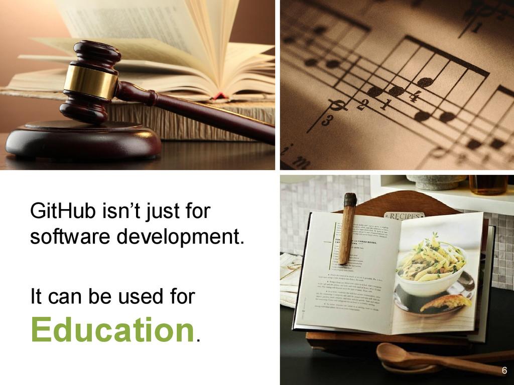 6 GitHub isn't just for software development. I...