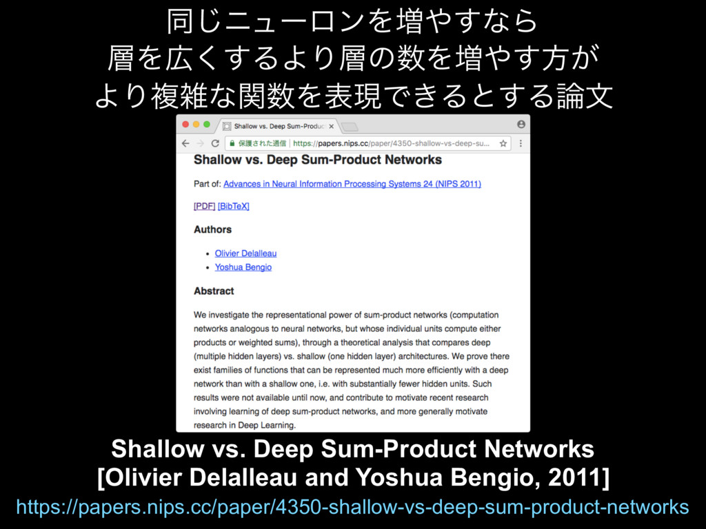 Shallow vs. Deep Sum-Product Networks [Olivier ...