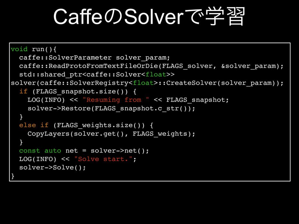 CaffeͷSolverͰֶश void run(){ caffe::SolverParame...