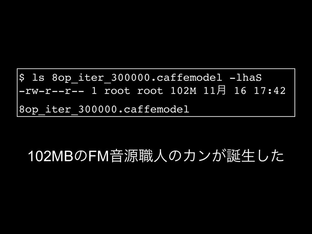 102MBͷFMԻݯ৬ਓͷΧϯ͕ੜͨ͠ $ ls 8op_iter_300000.caffe...