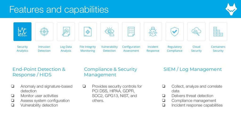 Features and capabilities End-Point Detection &...