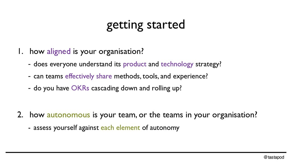 @tastapod getting started 1. how aligned is you...
