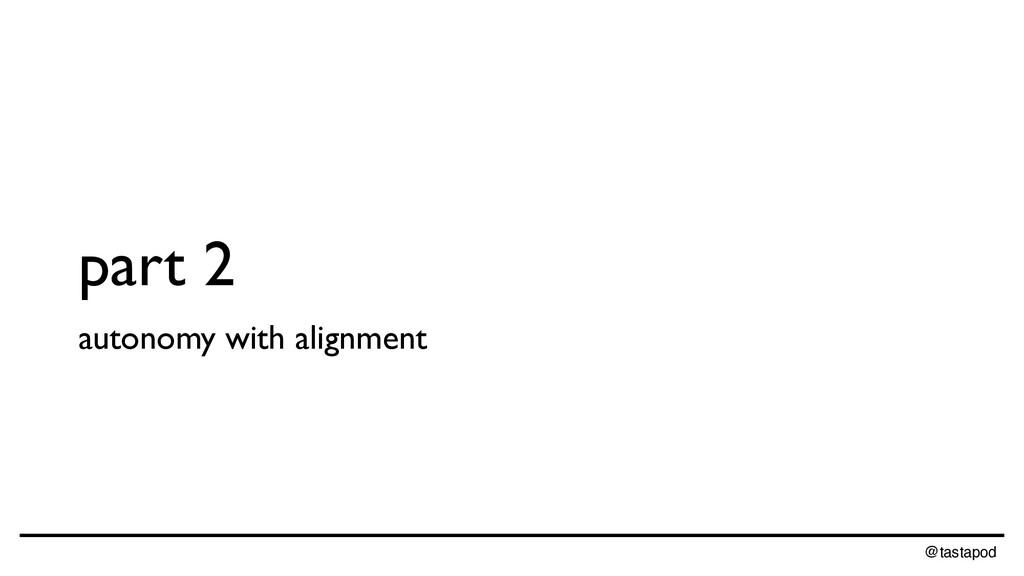 @tastapod part 2 autonomy with alignment