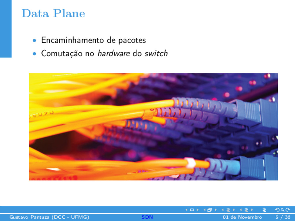 Data Plane • Encaminhamento de pacotes • Comuta...
