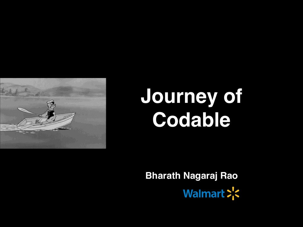 Bharath Nagaraj Rao Journey of Codable