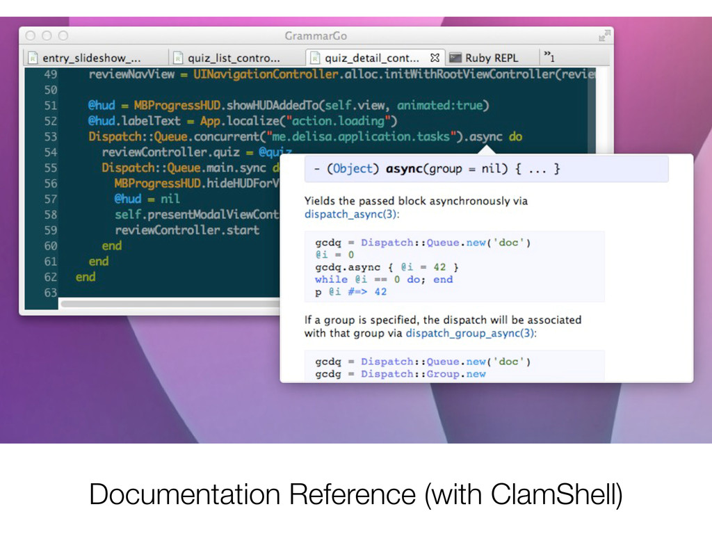 Documentation Reference (with ClamShell)