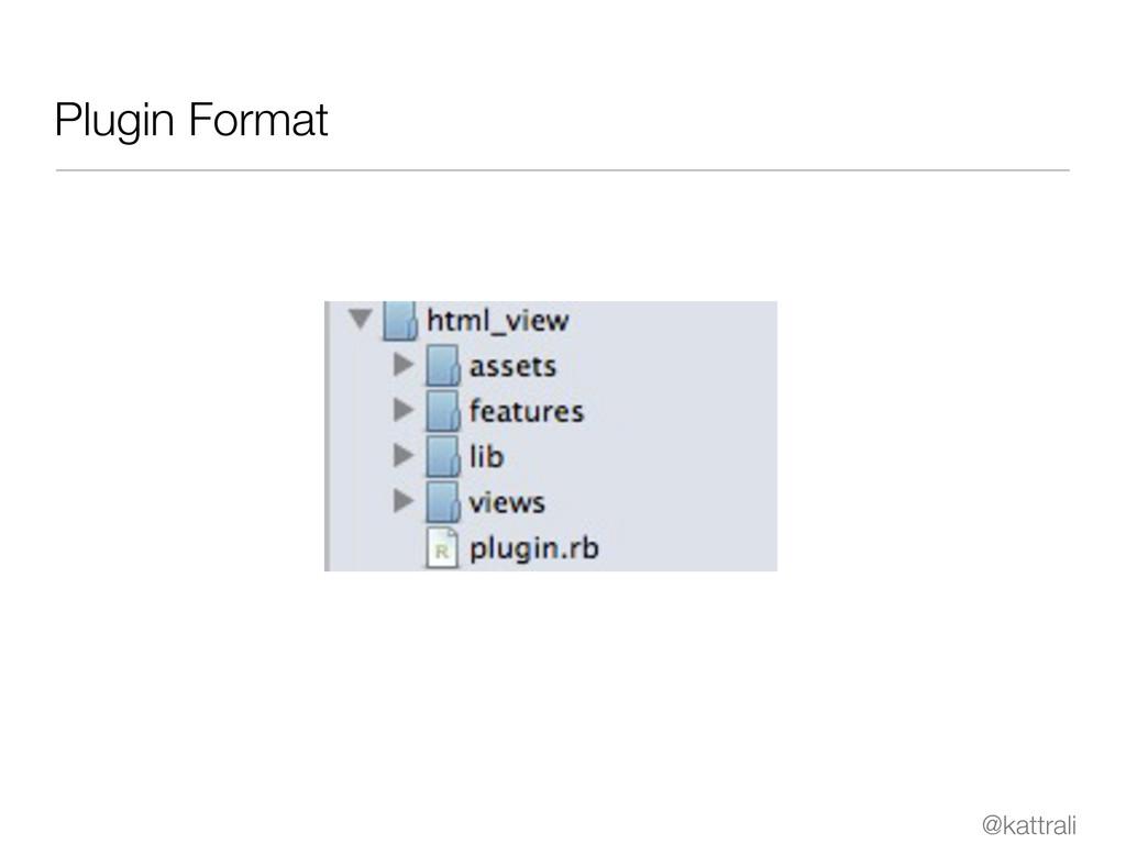 @kattrali Plugin Format