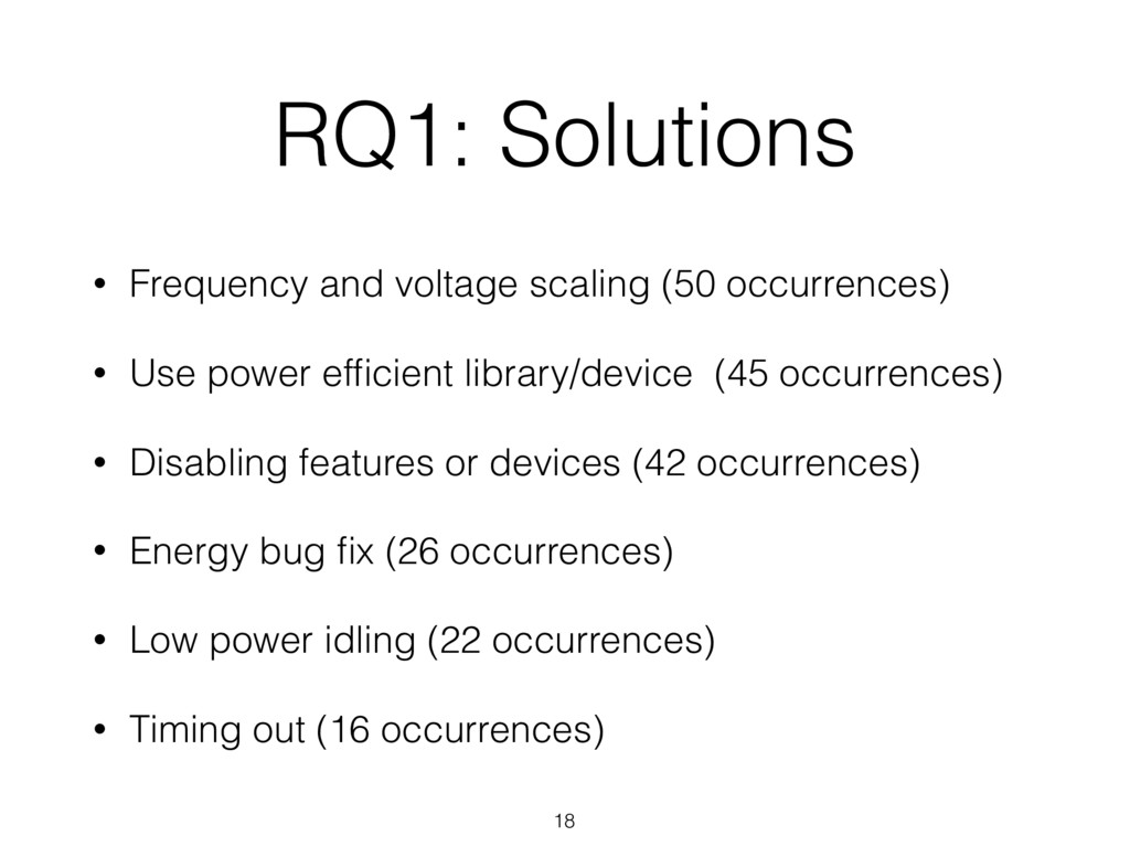 RQ1: Solutions 18 • Frequency and voltage scali...