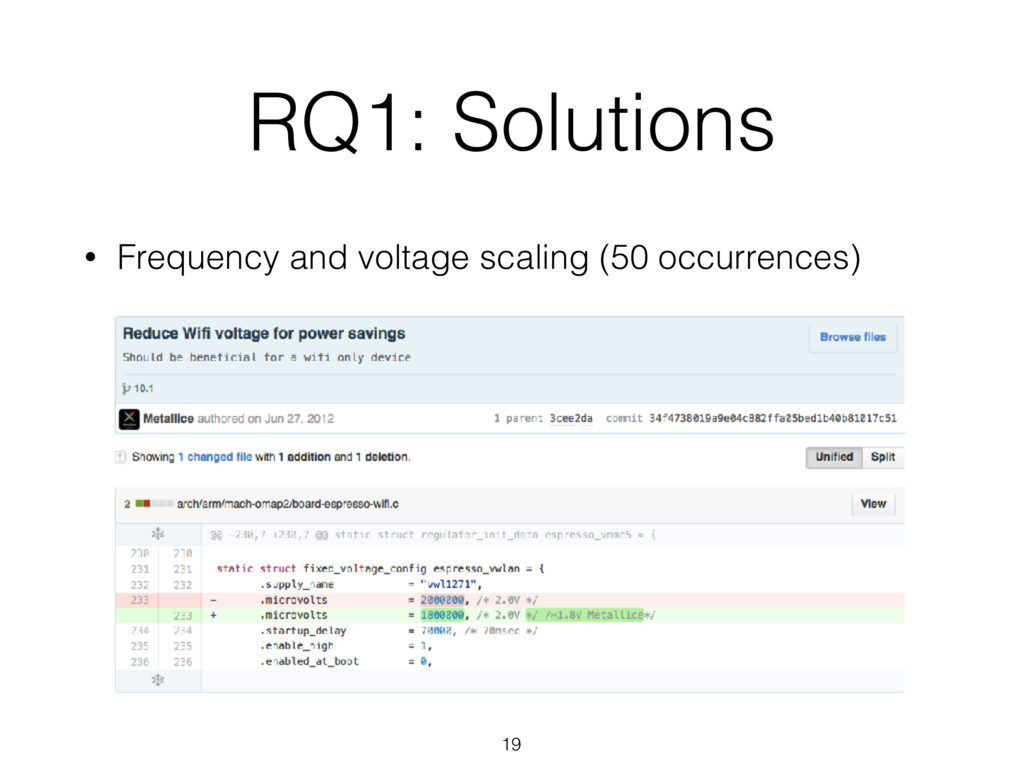 RQ1: Solutions 19 • Frequency and voltage scali...