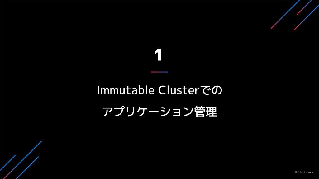 1 Immutable Clusterでの アプリケーション管理