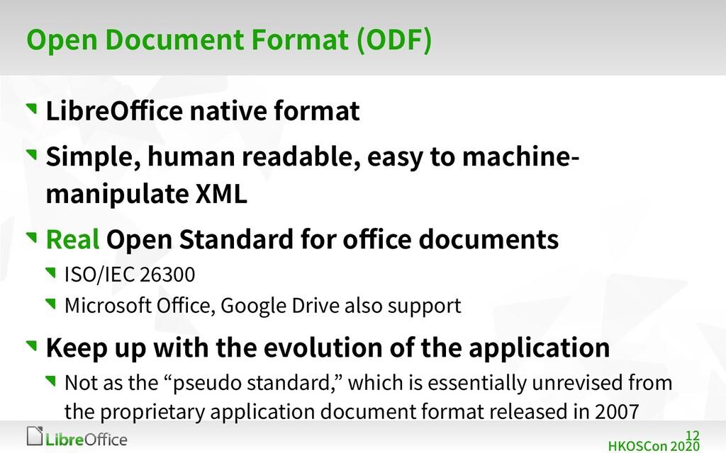 12 HKOSCon 2020 Open Document Format (ODF) Libr...