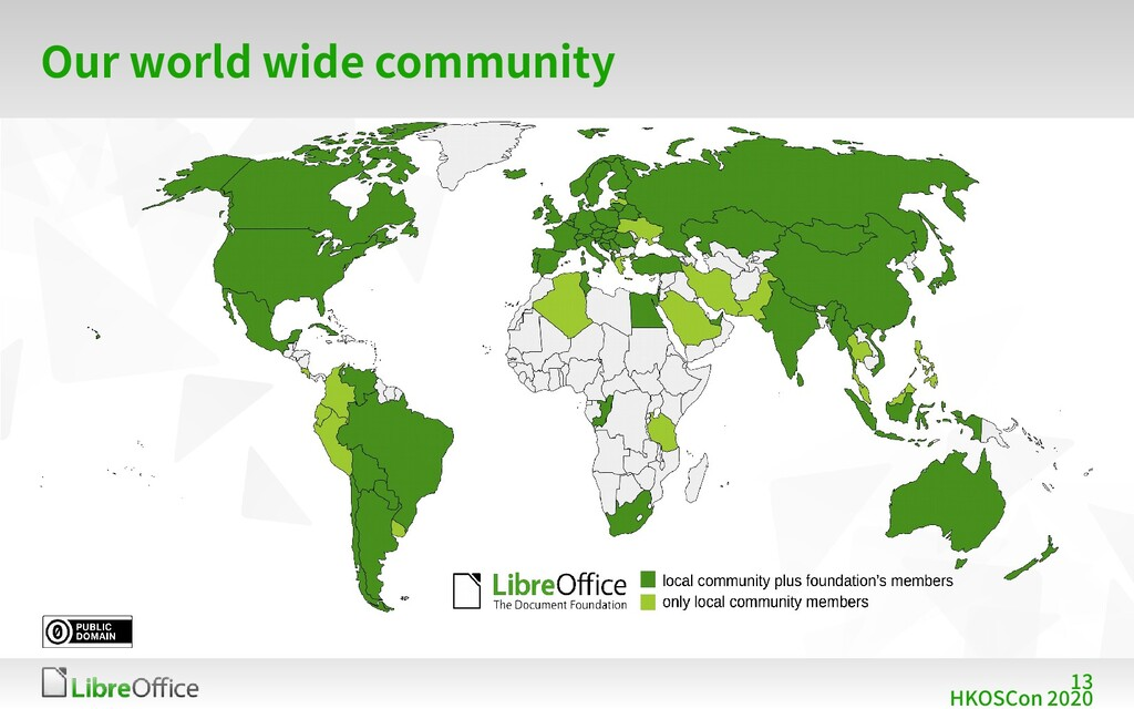 13 HKOSCon 2020 Our world wide community