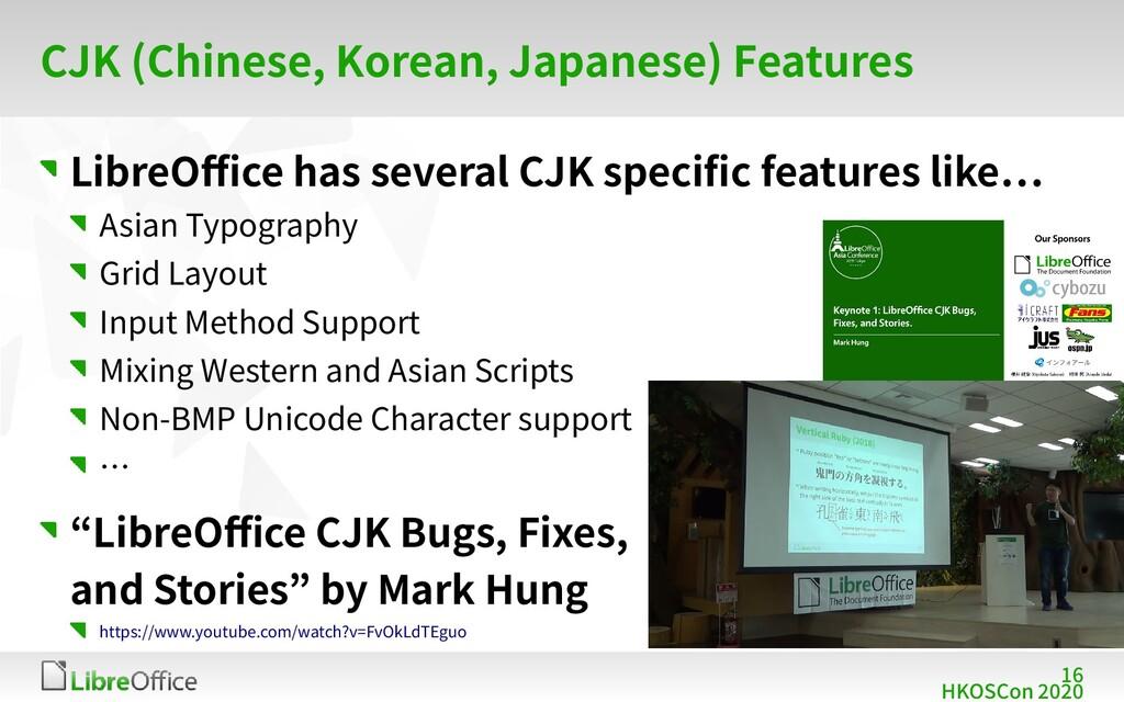 16 HKOSCon 2020 CJK (Chinese, Korean, Japanese)...