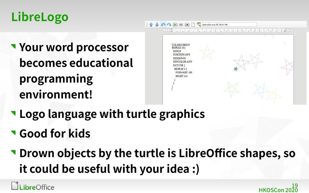 19 HKOSCon 2020 LibreLogo Your word processor b...
