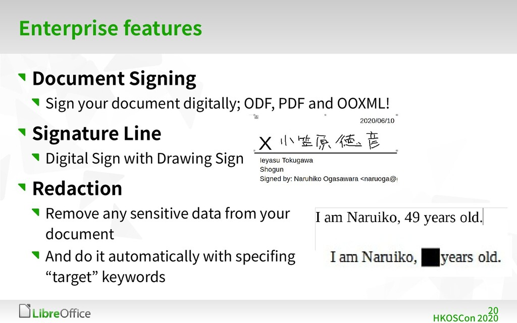 20 HKOSCon 2020 Enterprise features Document Si...