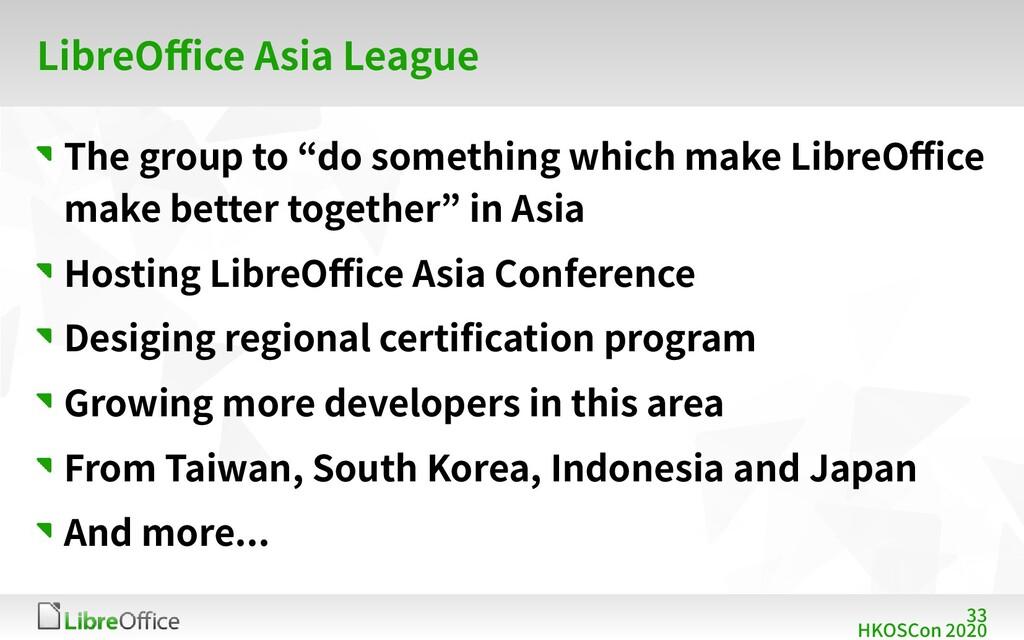 33 HKOSCon 2020 LibreOffice Asia League The gro...