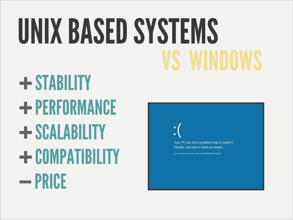 UNIX BASED SYSTEMS STABILITY PERFORMANCE SCALAB...