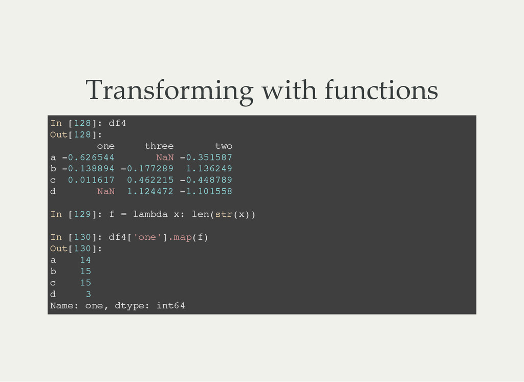 Transforming with functions I n [ 1 2 8 ] : d f...