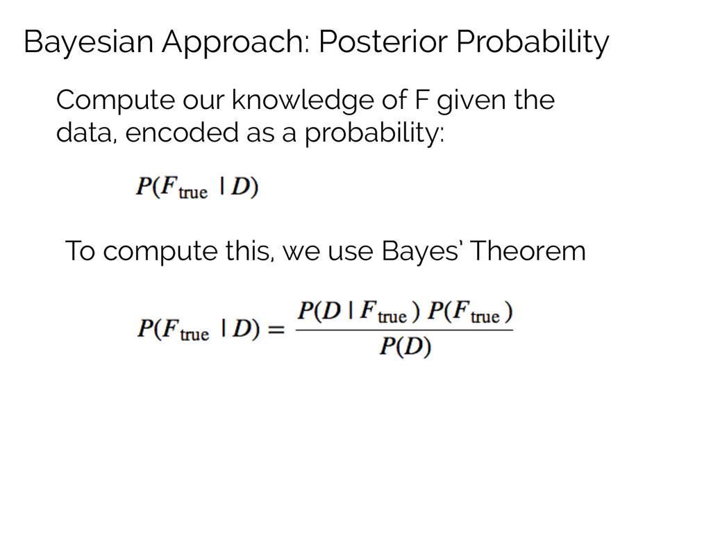 Bayesian Approach: Posterior Probability Comput...