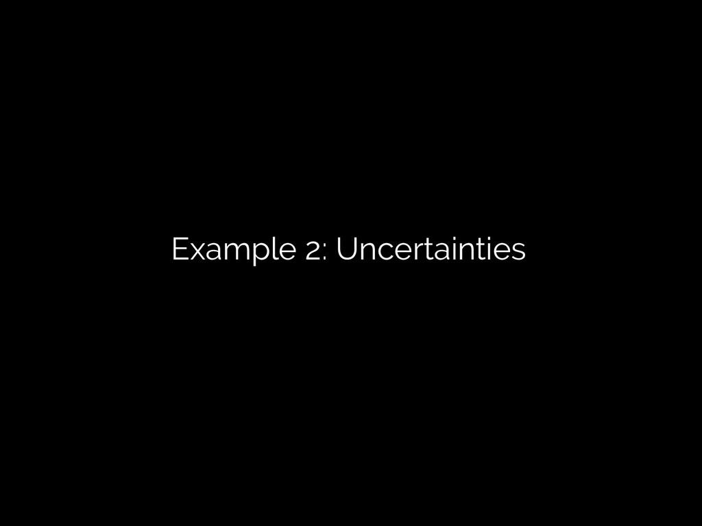 Example 2: Uncertainties