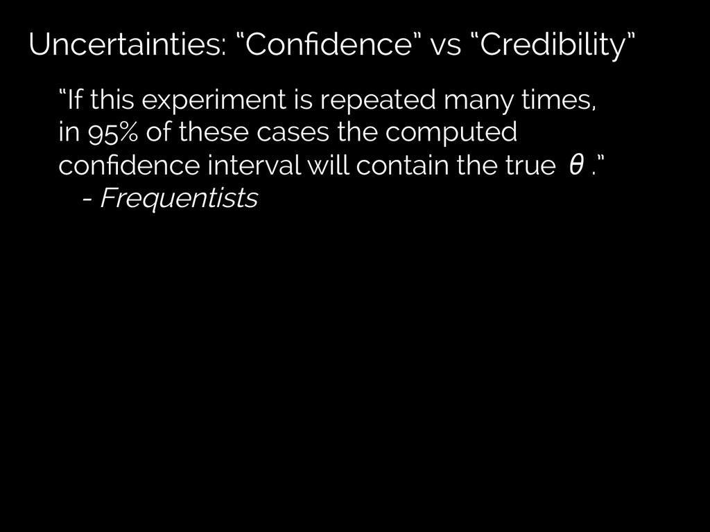 "Uncertainties: ""Confidence"" vs ""Credibility"" ""If..."