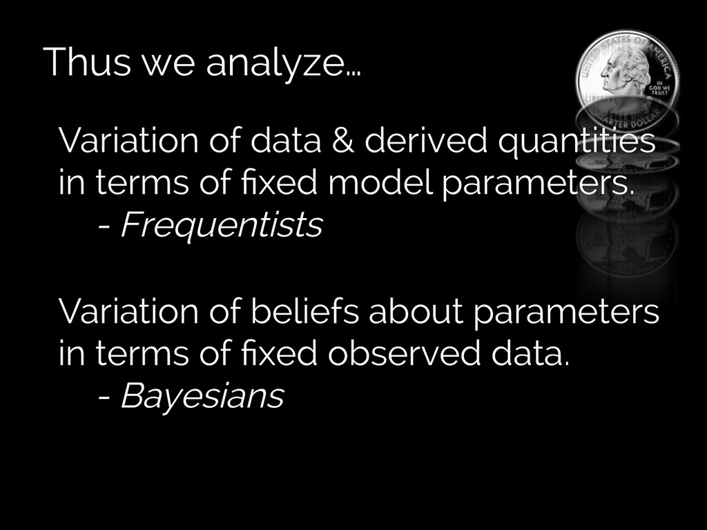 Thus we analyze… Variation of data & derived qu...