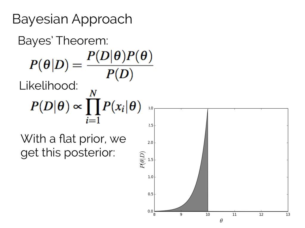 Bayesian Approach Bayes' Theorem: Likelihood: W...