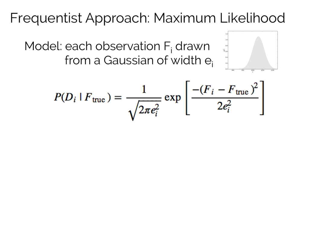 Frequentist Approach: Maximum Likelihood Model:...