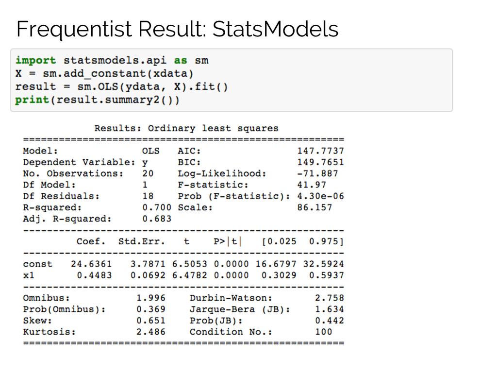 Frequentist Result: StatsModels