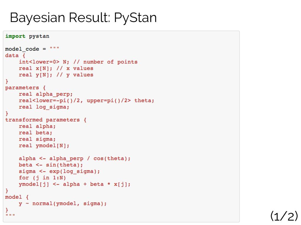 Bayesian Result: PyStan (1/2)