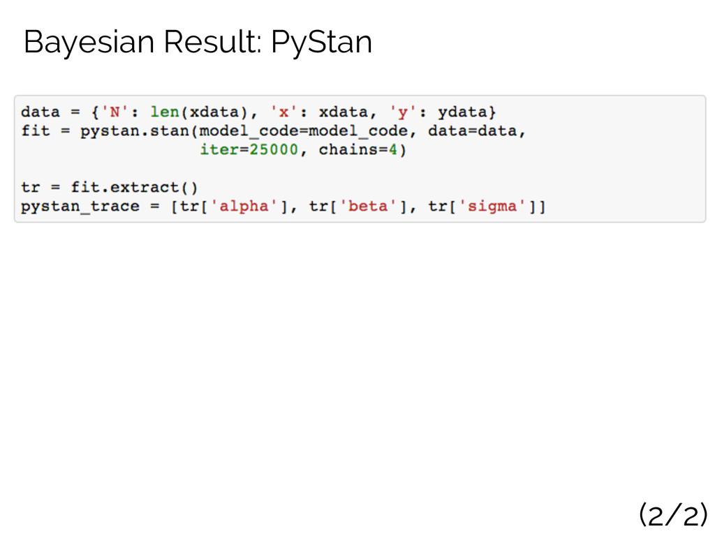 Bayesian Result: PyStan (2/2)