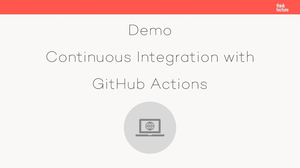 Demo Continuous Integration with GitHub Actions