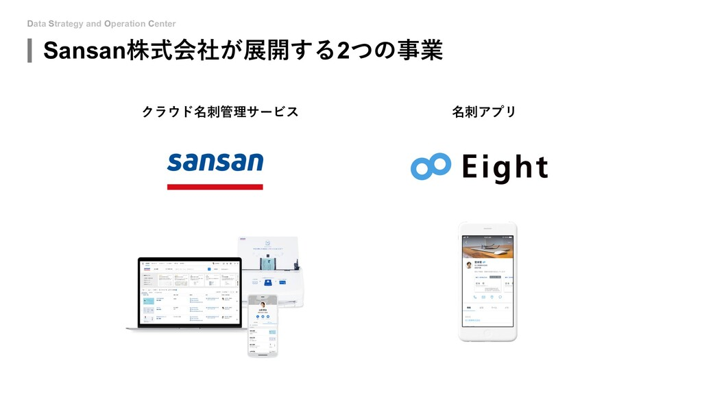 Data Strategy and Operation Center Sansan株式会社が展...