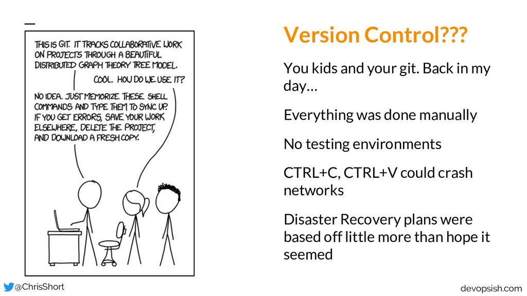 Version Control??? You kids and your git. Back ...