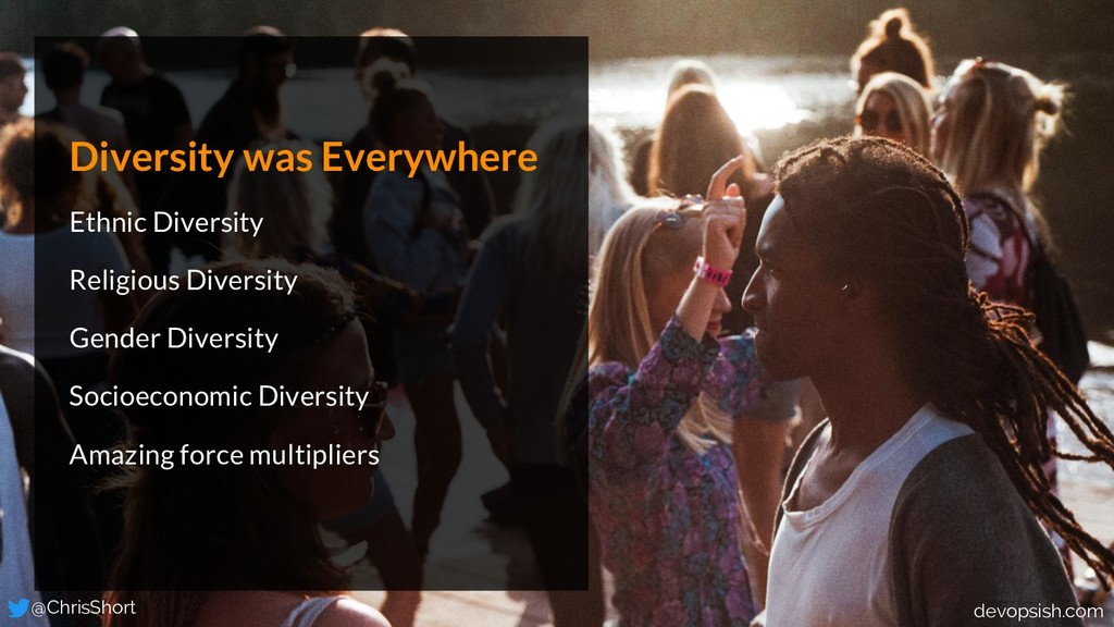 Diversity was Everywhere Ethnic Diversity Relig...