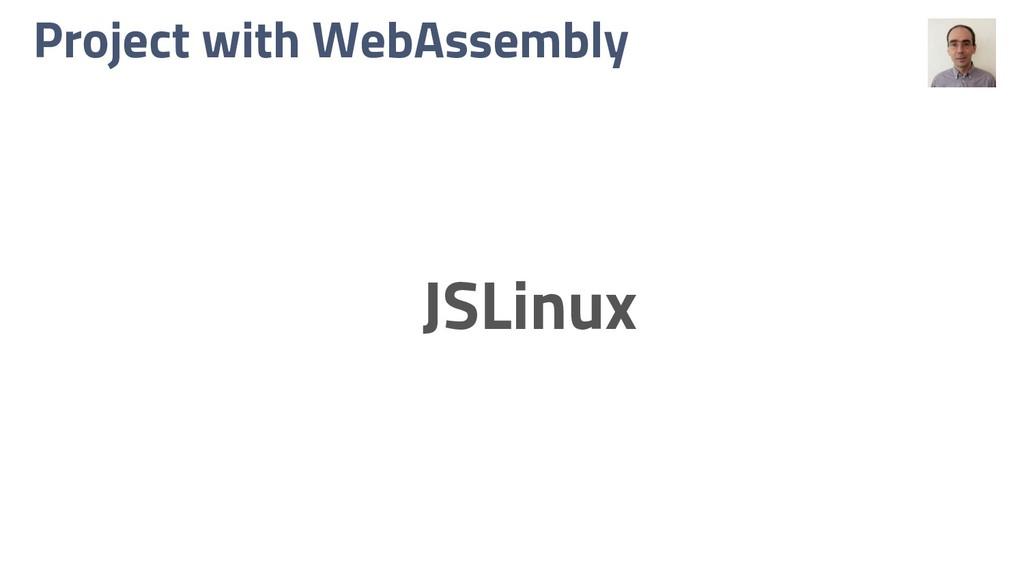 Project with WebAssembly JSLinux