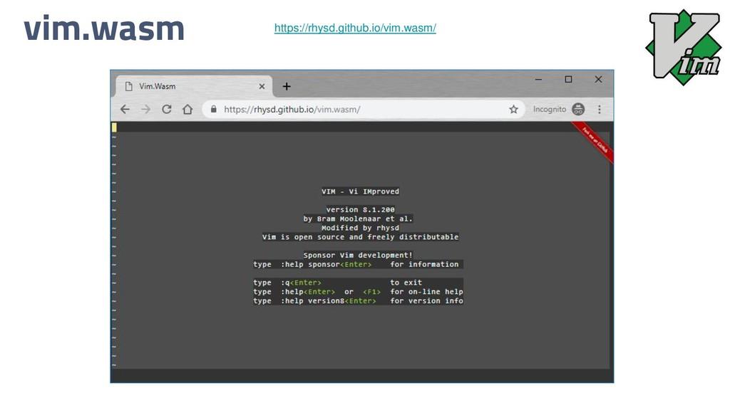 vim.wasm https://rhysd.github.io/vim.wasm/