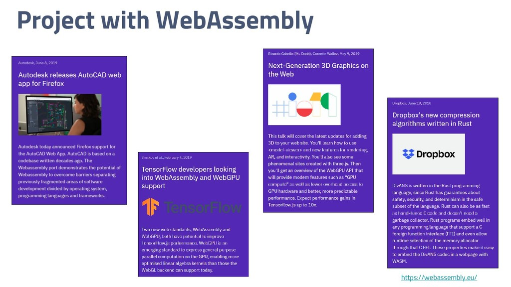 Project with WebAssembly https://webassembly.eu/