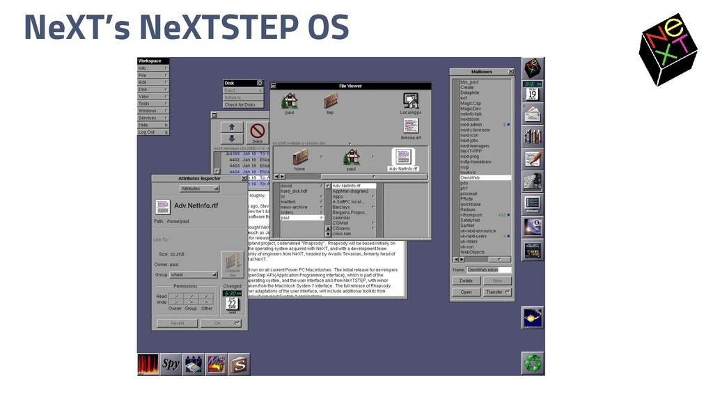 NeXT's NeXTSTEP OS