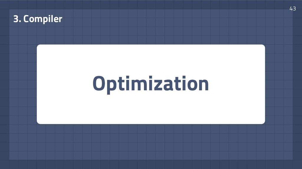 Optimization 3. Compiler 43