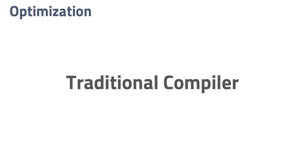 Optimization Traditional Compiler