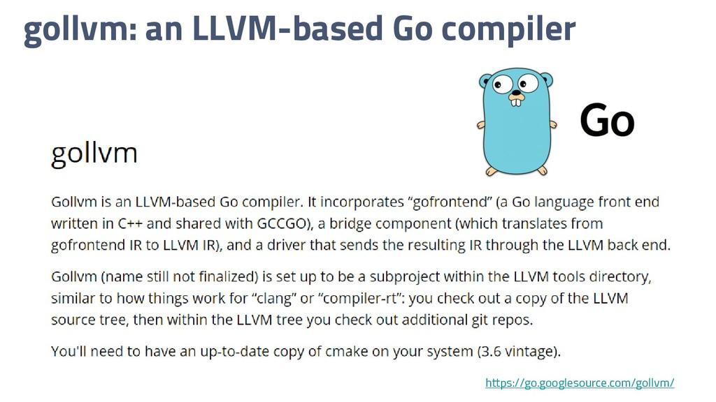 gollvm: an LLVM-based Go compiler https://go.go...