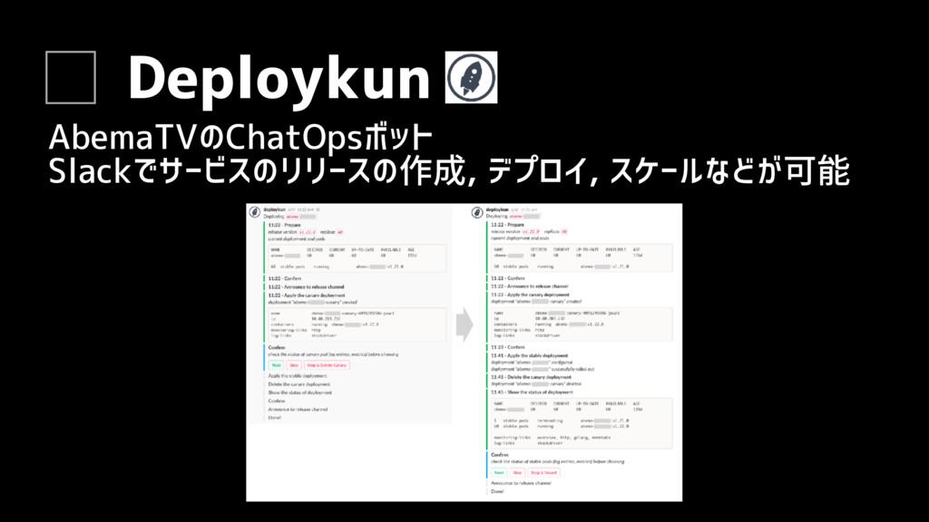 Deploykun AbemaTVのChatOpsボット Slackでサービスのリリースの作成...