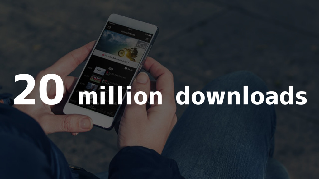 20 million downloads