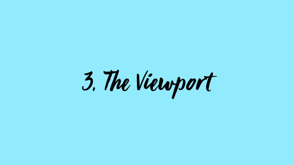 3, The Viewport